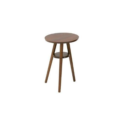 ウォールナット サイドテーブル ミニテーブル 丸テーブル 木製