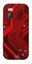 YOUNiiK Designfolie / Skin für Nokia N97 mini - Red Board