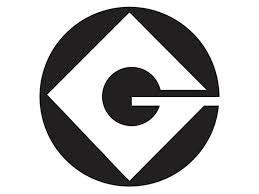 "Gru Logo - 1 - White Vinyl Decal 5"""