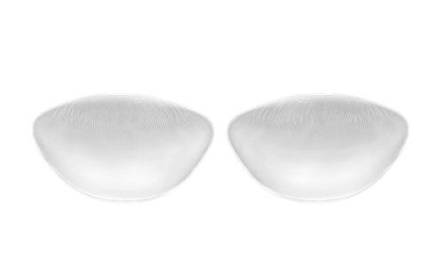 SODACODA - 210g/Paar - Große weiche Wohlfühl Push Up Silikon BH Einlagen - Brust Vergrößerung für BHs, Badeanzüge und Bikinis - geeignet für A, B, C und D Körbchengröße - Transparent