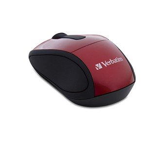 Verbatim - Mouse Wireless Travel Mini Red