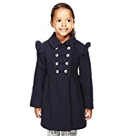 Autograph Wool Blend Military Coat