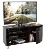 Inval MTV-8619 Curved Front Flat-Screen TV Stand, 50-Inch,...