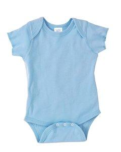 Rabbit Skins Infant Baby Rib Lap Shoulder Bodysuit (Light Blue) (6)