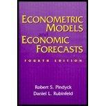img - for Econometric Models & Economic Forecasts by Pindyck,Robert; Rubinfeld,Daniel; Pindyck,Robert S.; Rubi. [1997,4th Edition.] Hardcover book / textbook / text book