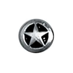 """Tandy Leathercraft Small Silver/black Star Concho 3/8"""" 7757-02"""
