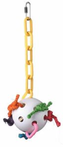Super Bird Creations Wacky Whiffle 14in x 5in Large Bird Toy