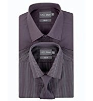 2 Pack Easy Care Slim Fit Assorted Shirts with Tie