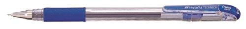 Pentel KN104 Hybrid Technica - Bolígrafo con tinta de gel (punta de aguja, 0,2 mm), color azul