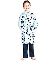 Star Print Dressing Gown with StayNEW™
