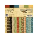 Graphic 45 French Country 6x6 Patterns & Solids Paper Pad