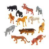12-pc Plastic Safari Animals