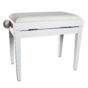 Tiger Adjustable Piano Stool - Cream