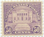 USA Collectible Postage Stamps: 1922 Arlington Amphitheater 50c. Lilac. SC 570. Mint Non Hinged