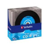 228540: Verbatim CD-R AZO Data Vinyl 700MB 52x Slim Case (10 Pack) (43426)