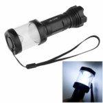 3-Mode 160 Lumen 3W White Led Camping Lantern / Flashlight With Strap(Black)