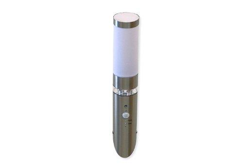 Außenleuchte mit Bewegungsmelder E27 und 21 LED warmweiß