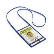 Flexible Silicone Lanyard Vertical Badge Holder