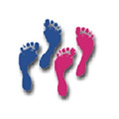 Colorful Cut-outs Footprints 42/pk - 1