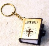 Mini Gold Holy Bible Religious Keychains (Mini Bibles compare prices)