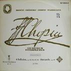 「ショパン:作品全集KassetteⅢ/Platte1」バラード集(全4曲),舟歌Op.60