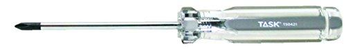 Task Tools T50421 Number-0 Phillips Elite Acetate Hard Grip Screwdriver, 2-1/2-Inch (Number Zero Screwdriver compare prices)