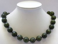 16mm Russian Serpentine Gemstone Necklace