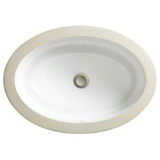 Porcher 12050-00.059 Marquee Medium Oval Under Counter Lavatory with Overflow, Matte Black