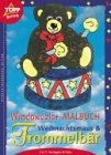 Window-Color-Vorlage: Windowcolor- Malbuch. Weihnachtsmaus und Trommelbär. 2 in 1: Vorlagen und Folien.