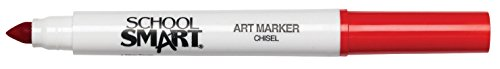 School Smart Chisel Tip Watercolor Marker - Set of 12 - Red
