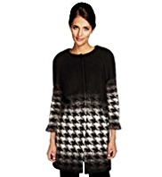 Per Una Wool Rich Dogtooth Jacquard Coat