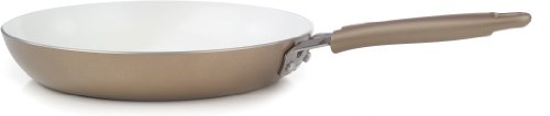 WearEver C94407 Pure Living Nonstick Ceramic Coating FPOA PTFE Free Saute Pan Fry Pan  Cookware, 12-Inch, Gold (Wearever Ceramic Frying Pan compare prices)