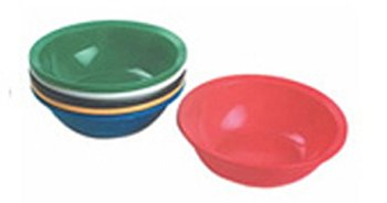 Plastic Painting Bowls Assorted -- Case of 4