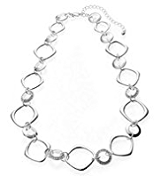 M&S Collection Silver Plated Open Link Chain Collar Necklace
