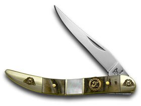 FROST FAMILY 40th Anniversary Ram Horn Mother Of Pearl 1/600 Toothpick Pocket Knife Knives