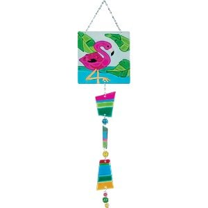 Glass Sun Catcher Hanging Decoration - Flamingo
