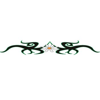 88bc97abf CHEAP TRIBAL DAISY Arm Band Temporary Tattoo 1.5x9Body Candy ...