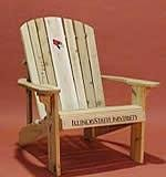 Illinois State Logo Adirondack Chair with 23 inch Seat Width