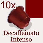 PACK OF 10 NESPRESSO DECAFFEINATO INTENSO COFFEE CAPSULES DECAFFEINATED