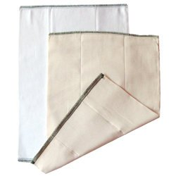 Chinese Prefold Diaper: White, Medium (15-30 lbs)