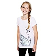 Cotton Rich Lightweight Swan T-Shirt