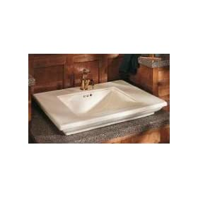 "Kohler K-2269-8-0 Memoirs lavatory basin with Stately design and 8"" centers, White"
