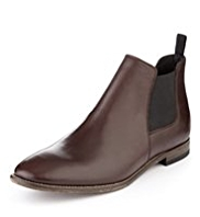 Autograph Leather Almond Toe Chelsea Boots