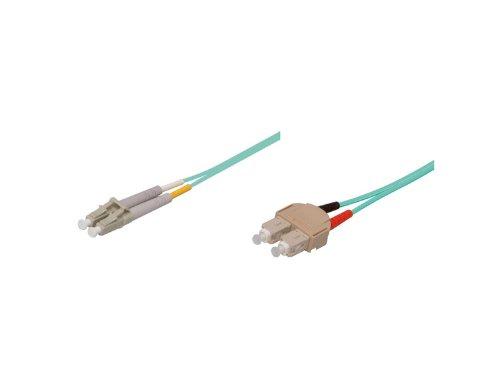 Patchkabel LWL Duplex OM3 (Multimode, 50/125) SC/LC, 1m, Good Connections®