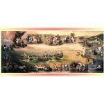 "The Life of Christ 1000 Piece Jigsaw Puzzle 16""x34"" - 1"