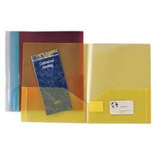 "Sparco Products : Transparent 2 Pocket Portfolio, 60 Sht Cap, 11""x8-1/2"", BE -:- Sold as 2 Packs of - 5 - / - Total of 10 Each"
