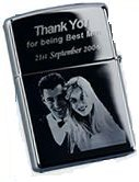 PERSONALISED ENGRAVED PHOTO GENUINE STAR WINDPROOF LIGHTER GIFT SET, LIGHTER & GIFT BOX!