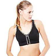 Zip Front Non-Wired Sports A-G Bra