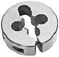 Standard Thread Round Die, High Speed Steel 6-32 X 13/16 O.D.
