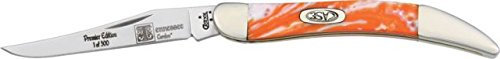 Case Cutlery 910096Tn Tennessee Corelon Toothpick Pocket Knife With Stainless Steel Blade, Orange And White Mixed Corelon